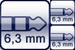 Winkel-Klinke 3p.<br>2x Winkel-Klinke 2p.