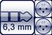 Klinke 3p.<br>2x XLR 3p. male