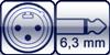 XLR 3p. male<br>Klinke 2p. 6,3mm