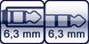Klinkenbuchse<br>Klinke 3p. 6,3 mm
