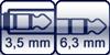 Klinkenbuchse 3p. 3,5mm<br>Klinke 3p. 6,3mm