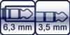 Klinkenbuchse 3p. 6,3 mm<br>Klinke 3p. 3,5 mm