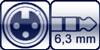 XLR 3p. female<br>Klinke stereo