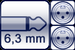 Klinke 2p. 6,3mm<br>2x XLR 3p. male
