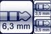 Winkel-Klinke 3p.<br>2x Mini-Klinken-Buchse 3p.