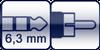 Klinke 3p. 6,3 mm<br>Cinch