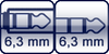 Klinkenbuchse 3p.<br>Winkel-Kl. 3p. 6,3mm