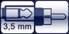 Mini-Klinkenbuchse 2p.<br>Cinch