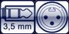 Klinkenbuchse 3p. 3,5 mm<br>XLR-male 3p.