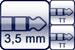 Mini-Klinke 3p.<br>2x TT-Phone 3p.