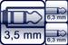 Mini-Klinkenbuchse<br>2x Klinke