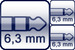 Winkel-Klinke 3p.<br>2x Klinke 2p.