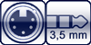 XLR 5p. female<br>Miniklinke 3p.