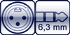 XLR 3p. male<br>Winkel-Kl. 3p. 6,3mm