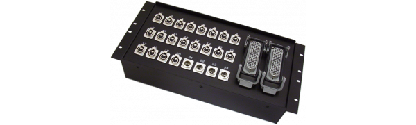 19''-Stagebox 20x XLR-fem./4x XLR-male, 2x HAN72 female