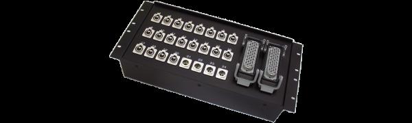 19''-Stagebox 20x XLR-fem./4x XLR-male, 2x HAN72 male