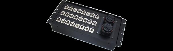 19''-Stagebox 20x XLR-fem./4x XLR-male, 2x TL85 female