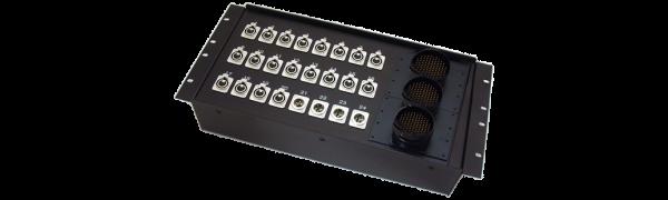 19''-Stagebox 20x XLR-fem./4x XLR-male, 3x TL85 male