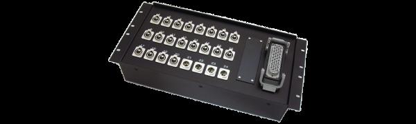 19''-Stagebox 20x XLR-fem./4x XLR-male, HAN72 male