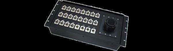 19''-Stagebox 20x XLR-fem./4x XLR-male, TL85 male