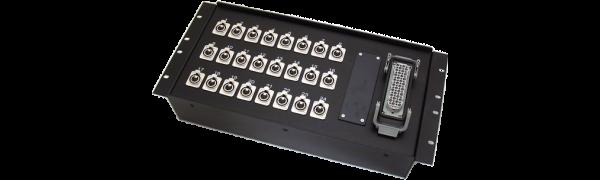 19''-Stagebox 24x XLR-fem., HAN72 male