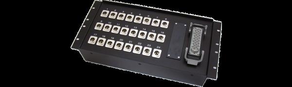 19''-Stagebox 24x XLR-male, HAN72 male