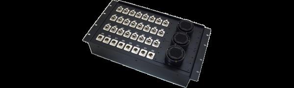 19''-Stagebox 24x XLR-fem./8x XLR-male, 3x TL100 female