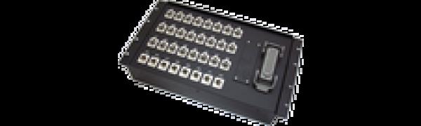 19''-Stagebox 24x XLR-fem./8x XLR-male, HAN108 female