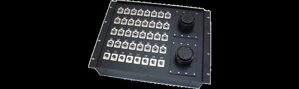 19''-Stagebox 32x XLR-fem./8x XLR-male, 2x TL150 female