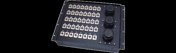 19''-Stagebox 32x XLR-fem./8x XLR-male, 3x TL150 female