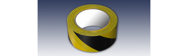 PVC-Warnband-GE/SW - 50 mm x 33 m