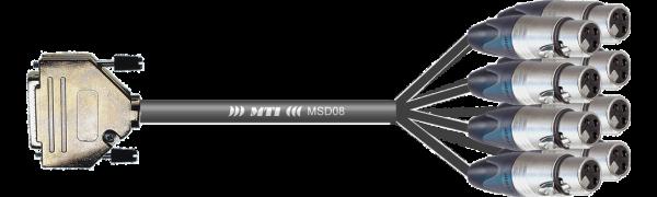 MTI First Class Analog-Loom, D-Sub-male 25p./XLR-fem. 3p., 8Ch.