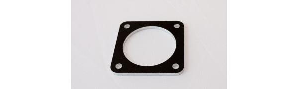 Adapterplatte für NLT8 Housing+PG21-Bohrung, Alu-SW