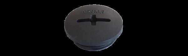 Blindstopfen-Kunststoff, M 20 schwarz
