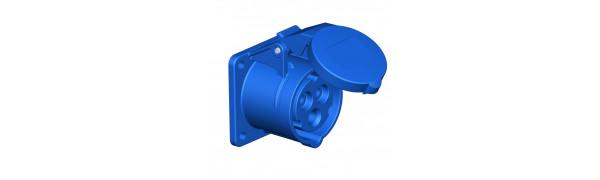 MTI-CEE-Einbaukupplung 3p., 16 Ampere, blau