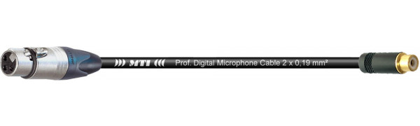 MTI Digital Audio-Adapter, XLR-fem. 3p./Cinch-Bu., 0,2 m