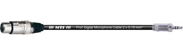 MTI Digital Audio-Adapter, XLR-fem./Mini-Kl. 3p., 0,2 m