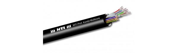MTI Prof. Kombi-Multicore, 1x CAT7 AWG26/7-1x Strom 3x 1,5 mm²