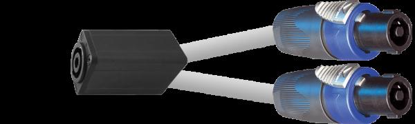 MTI Speakon-Adapter, 8p./2x 4p., 1,0 m