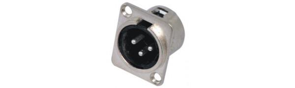 MTI-XLR 3p. Einbaustecker, D-Serie,