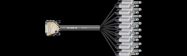 Breakout-Loom, MTI/Neutrik SUB-D 25pol. male/16x Klinke 2p.