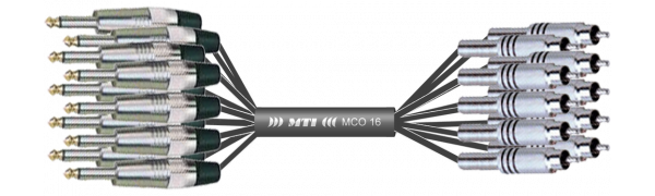 Monocore-Loom, 16x Klinke/Cinch