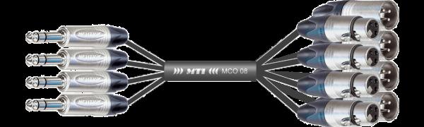 Breakout-Loom, Neutrik 4x Klinke 3p./8x XLR-fem./male
