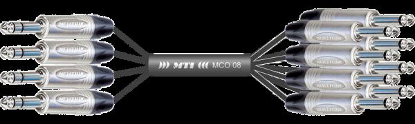 Y-Insert-Loom, Neutrik 4x Klinke 3p./8x Klinke 2p.