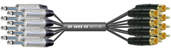 Monocore-Loom, Neutrik 8x Klinke/Cinch