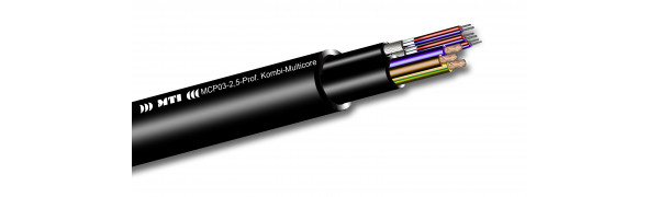MTI Prof. Kombi-Multicore, 2x Audio - 1x Strom