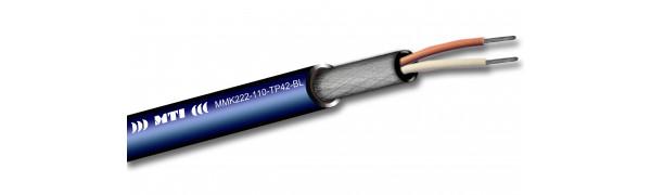MTI Prof. Digital Micro-Cable, 1x2x0,22 mm², 110 Ohm, blau - 100m Trommel
