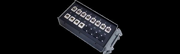 Stagebox 8x XLR-fem./4x XLR-male, HAN40 female