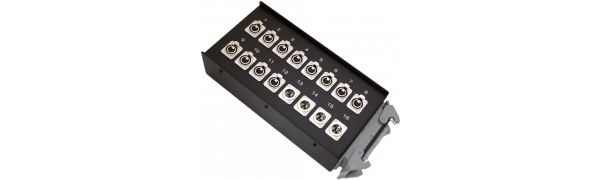 Stagebox 12x XLR-fem./4x XLR-male, HAN64 male