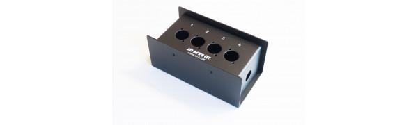 MTI Metall-Stagebox, 4 Bohrungen, Neutrik D-Serie